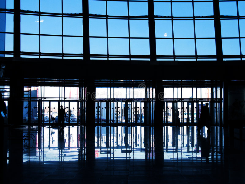Modern Commercieel centrum royalty-vrije stock fotografie