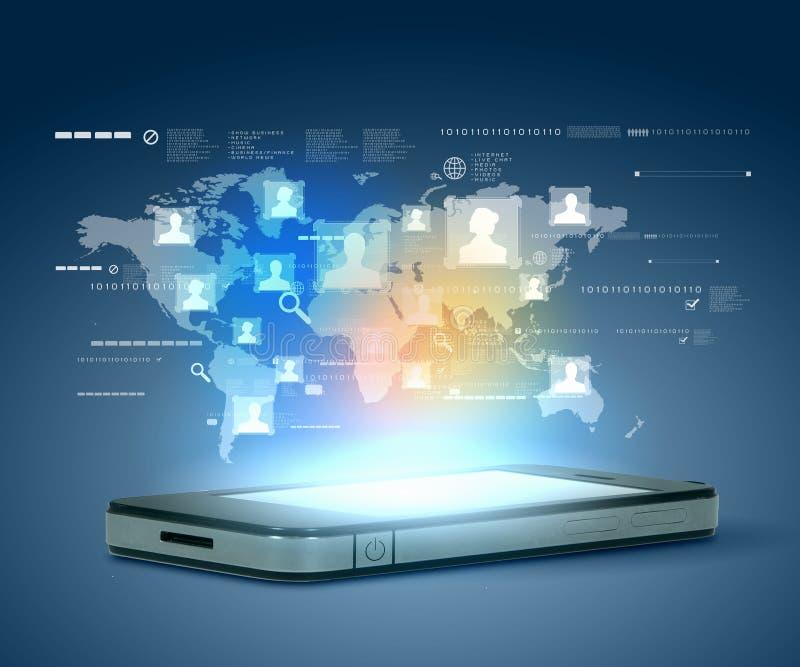Modern communication technology stock image