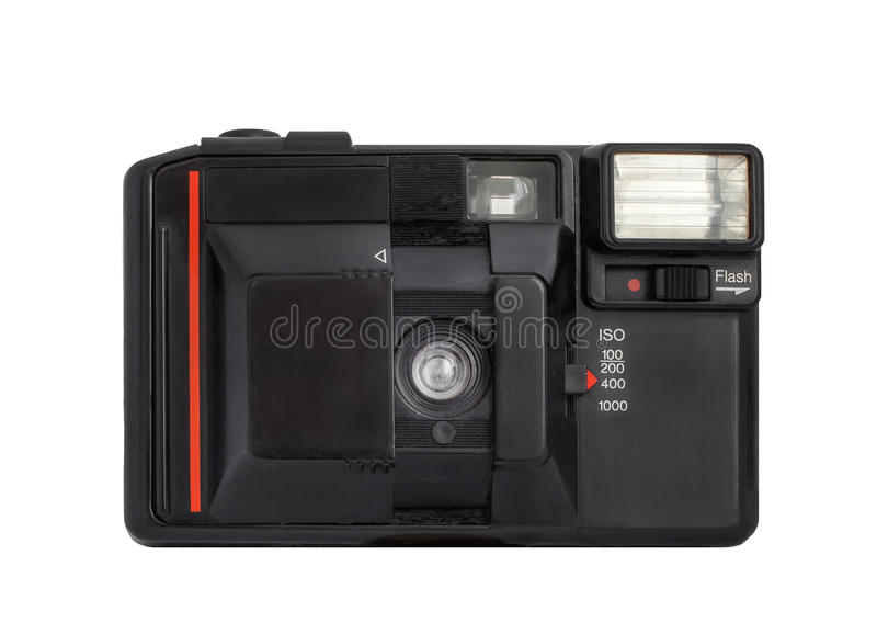 Download Modern Compact Analog Camera On Film 35mm Format Isolated On A White Background Stock Photo - Image of fotoapparat, exposure: 48770502