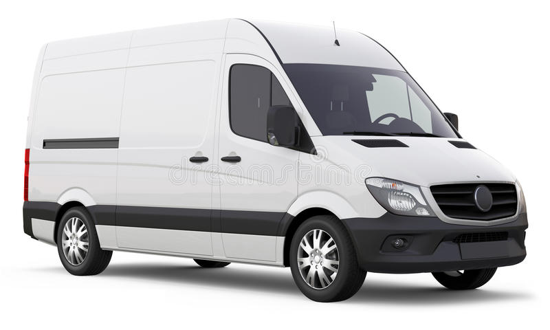 Modern compact van royalty free stock photos