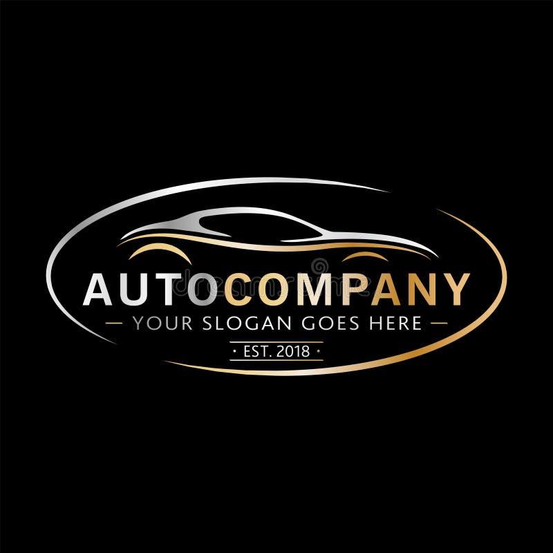 Modern Company Automatica Logo Design Vettore ed illustrazione royalty illustrazione gratis