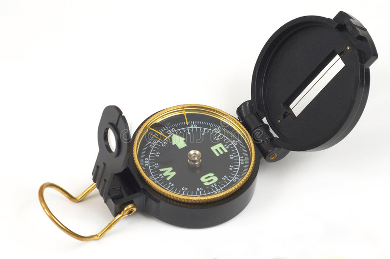 Modern compass. Compass on white royalty free stock images