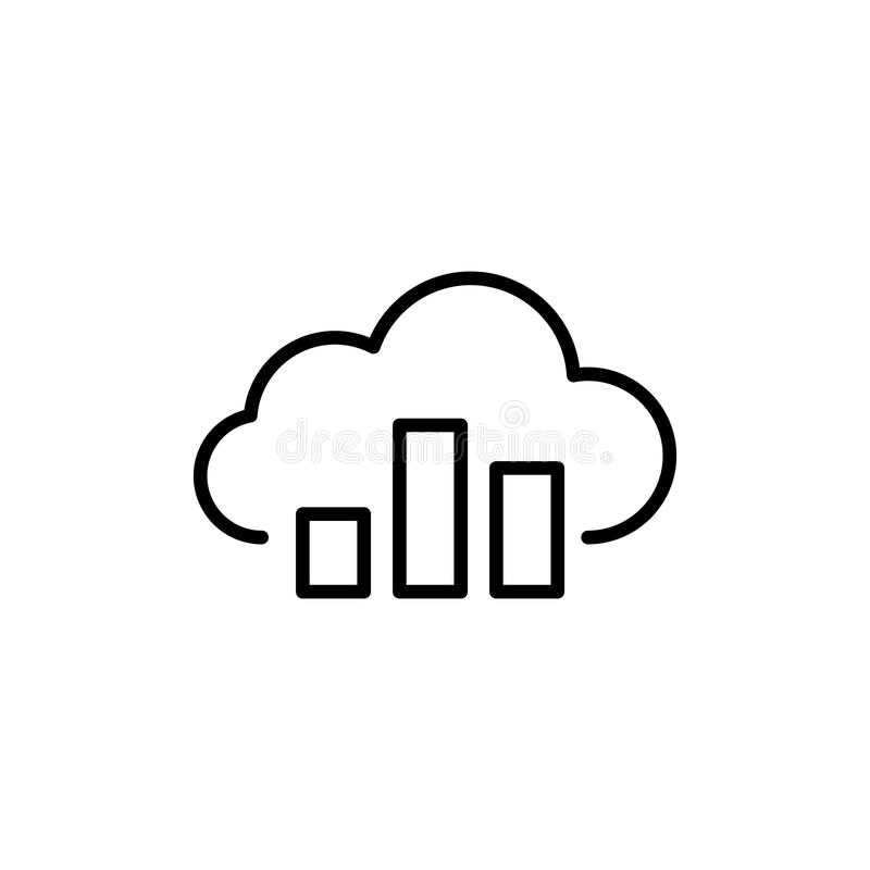 Modern computer cloud line icon. Premium pictogram isolated on a white background. Vector illustration. Stroke high quality symbol. Cloud icon in modern line vector illustration