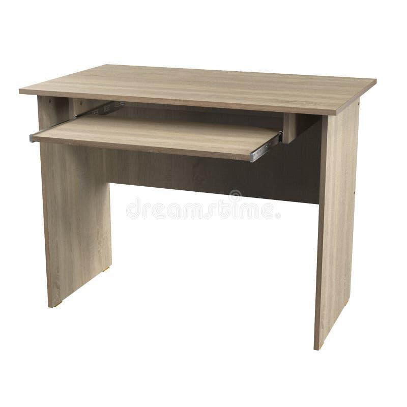 Computer Desk Chipboard Oak royalty free illustration