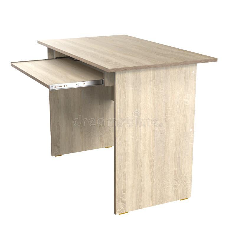 Computer Desk Chipboard Oak stock illustration