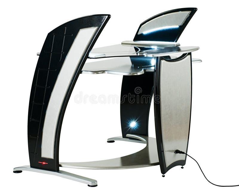 Computertisch modern  Modern Computer Desk Or Workstation Stock Image - Image of ...