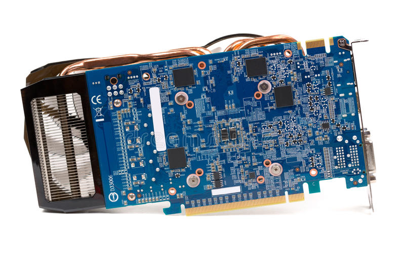 Modern computer graphics card stock photography
