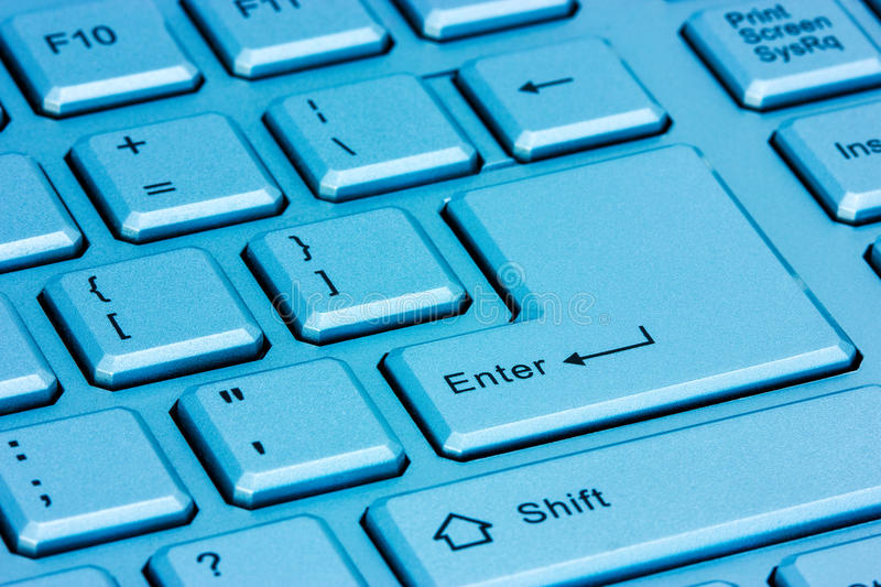Download Modern Computer Keyboard In A Blue Light Stock Photo - Image: 36983528