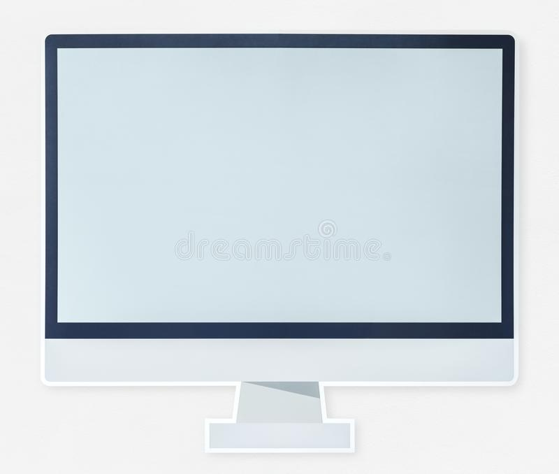 Modern computer monitor icon isolated stock photo