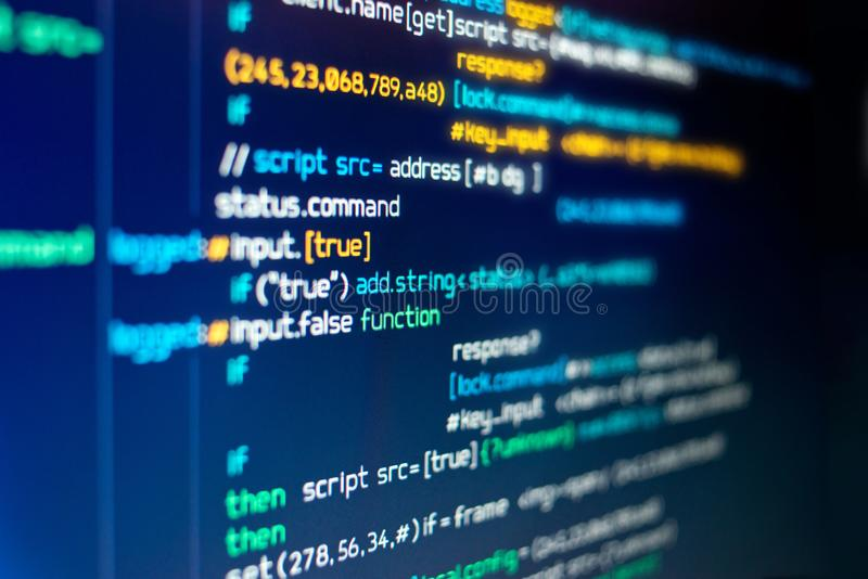 Modern Computer programming Code stock images