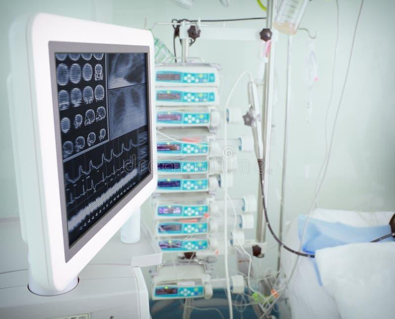 Modern computerapparaat in een het ziekenhuisruimte royalty-vrije stock afbeelding