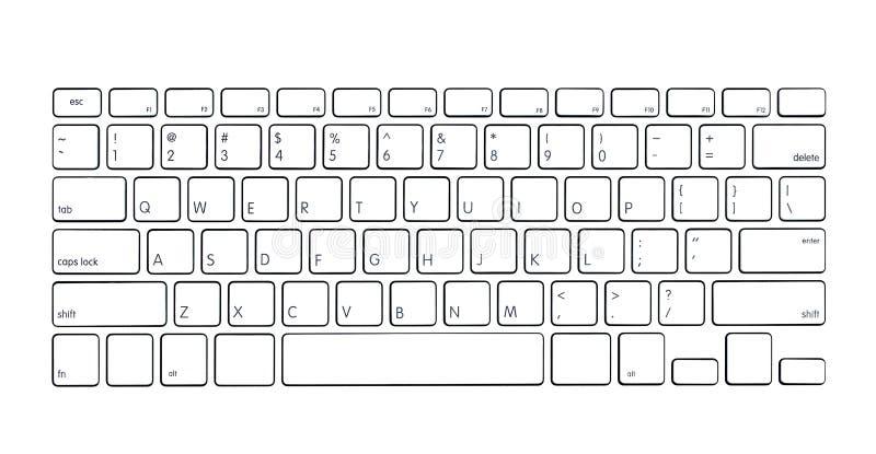 Modern computertoetsenbord vector illustratie