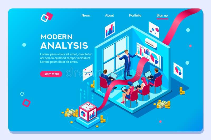 Modern Concept Analysis Template Oprimization royalty free illustration