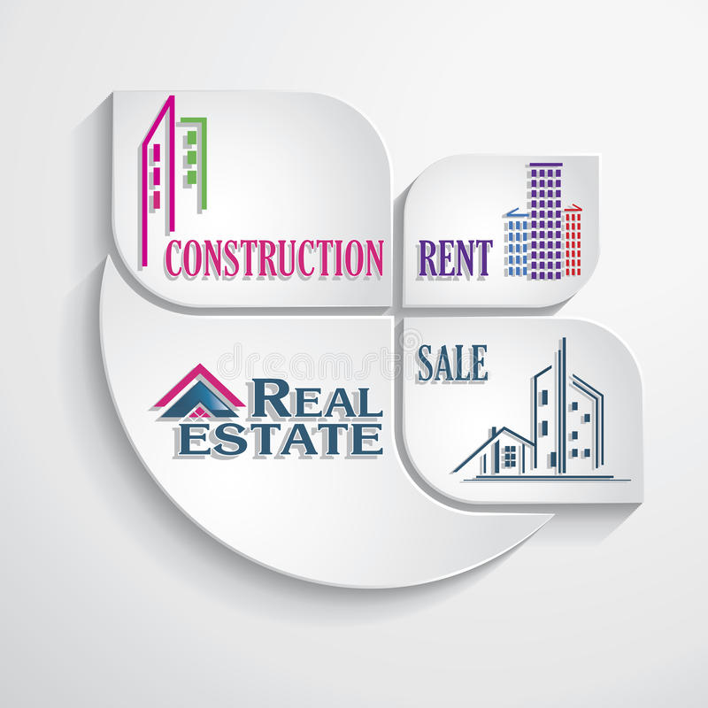 Modern Concept For Real Estate Business. Design Template. Royalty Free Stock Photo