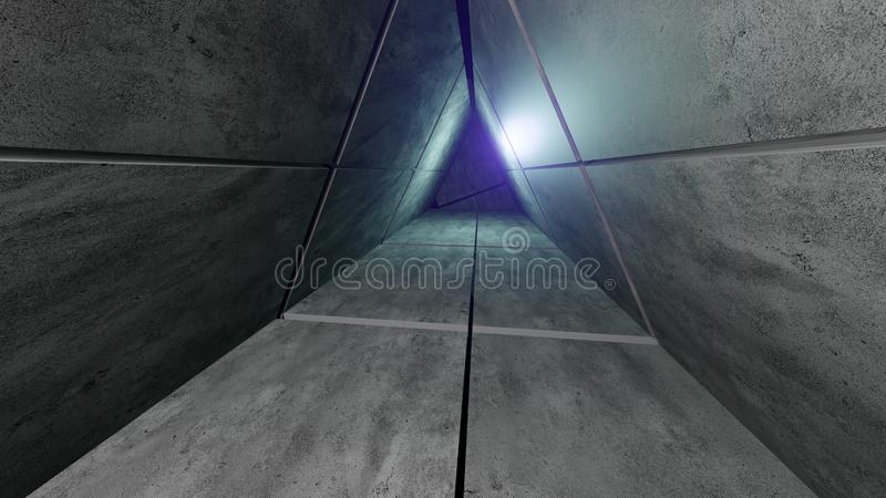 Modern concrete architecture buildung hall royalty free stock images