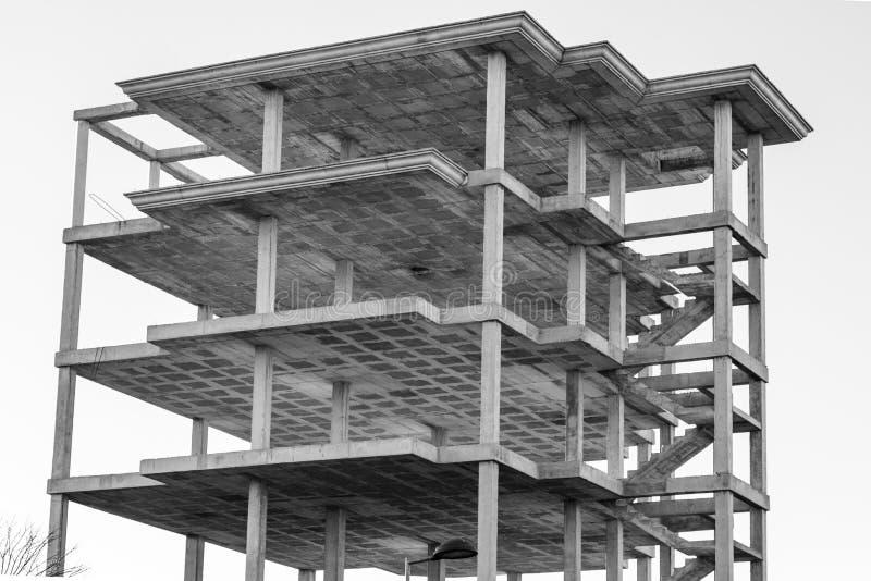Modern concrete structure. Building under construction stock photo