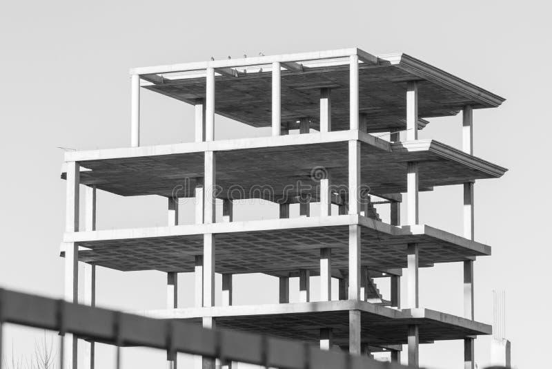 Modern concrete structure. Building under construction stock photos