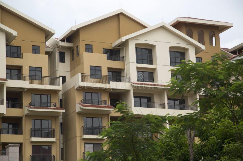 Modern condo buildings stock photo