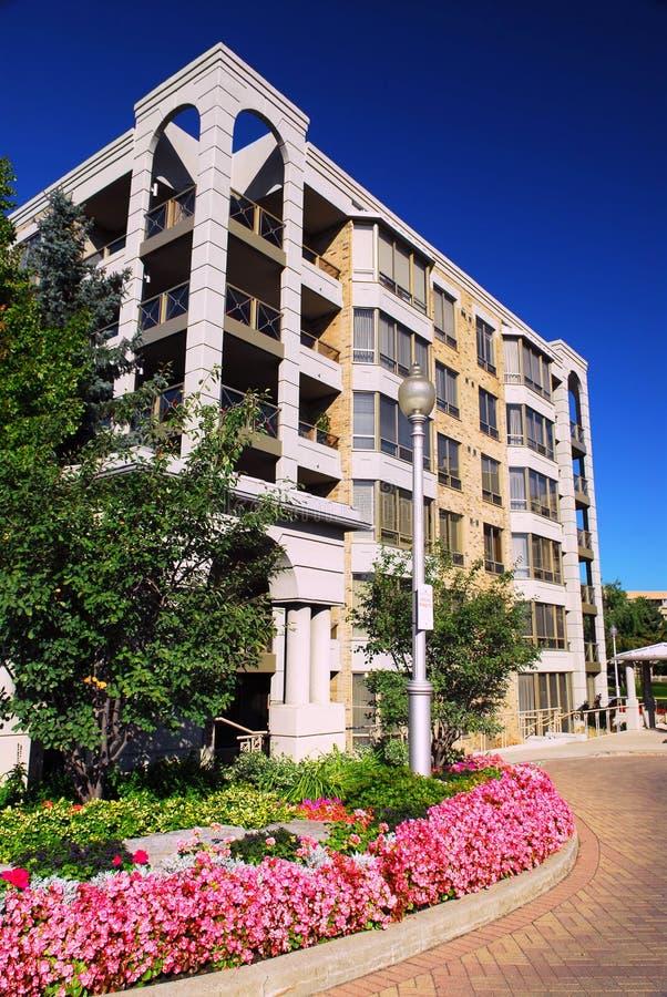 Modern condominium building stock photography