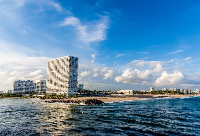 Modern Condos on Fort Lauderdale Beach stock photos