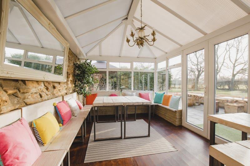 Modern Conservatory Interior stock photos