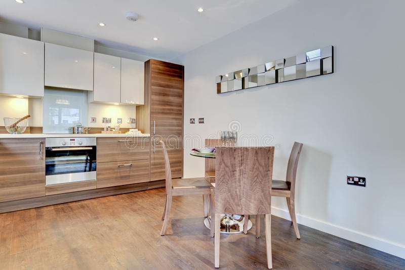 Modern contemporary breakfast kitchen royalty free stock photos