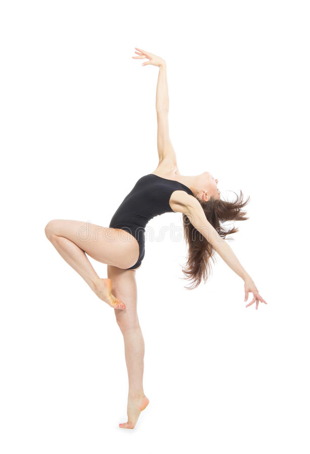 Modern contemporary style woman ballet dancer royalty free stock photography
