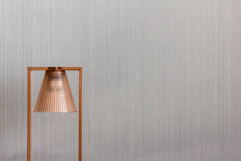 Modern and elegant copper lamp stock photo