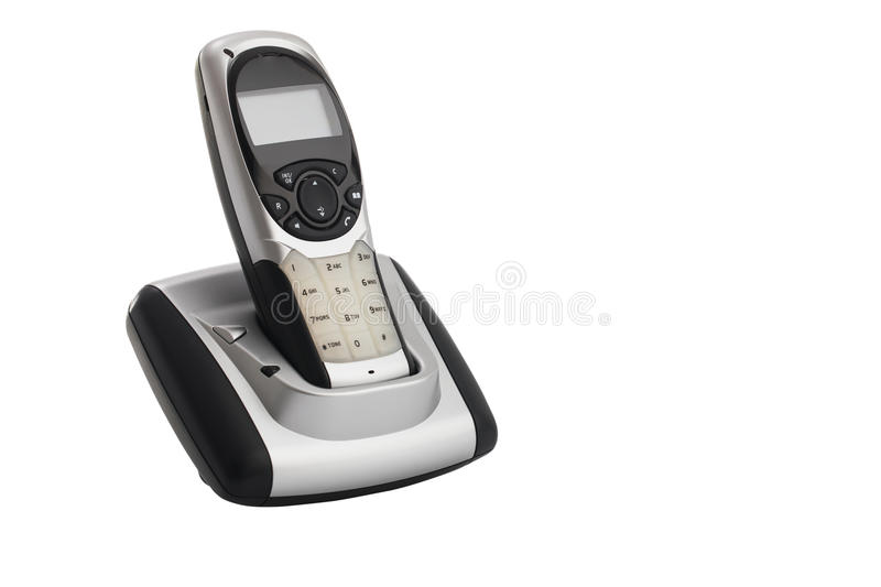 Download Modern, Cordless Home Phone, Isolated On A White Background Stock  Photo   Image