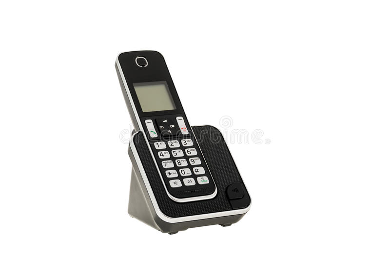 Modern Cordless Landline Dect Phone With Charging Station Isolated ...