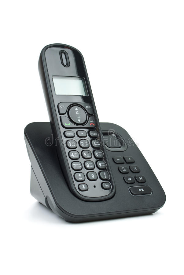 High Quality Download Modern Cordless Phone Stock Photo. Image Of Answering   12918190