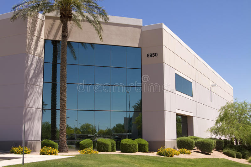Modern Corporate Office Warehouse Building royalty free stock photos