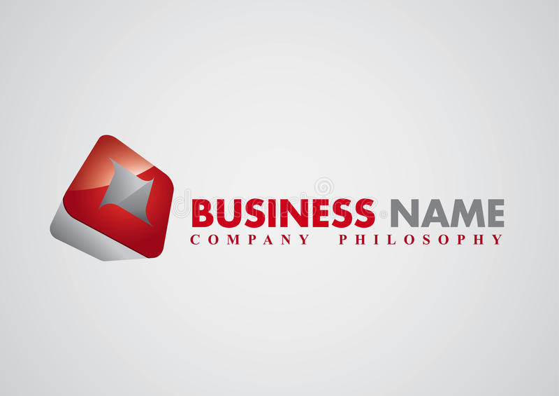 Modern corporate vector logo royalty free illustration