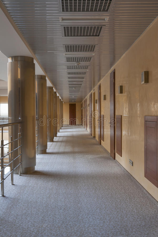 Modern corridor interior stock photos