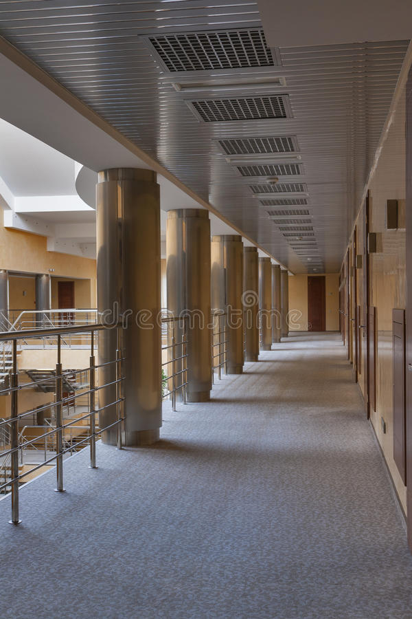 Modern corridor interior stock images