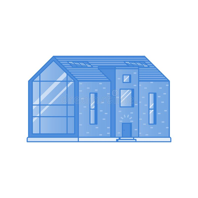 Modern cottage on a white background royalty free stock images