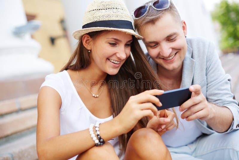 Modern couple stock image