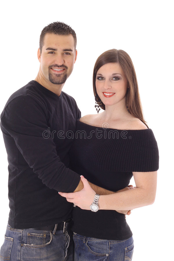 Modern Couple In Love Stock Image