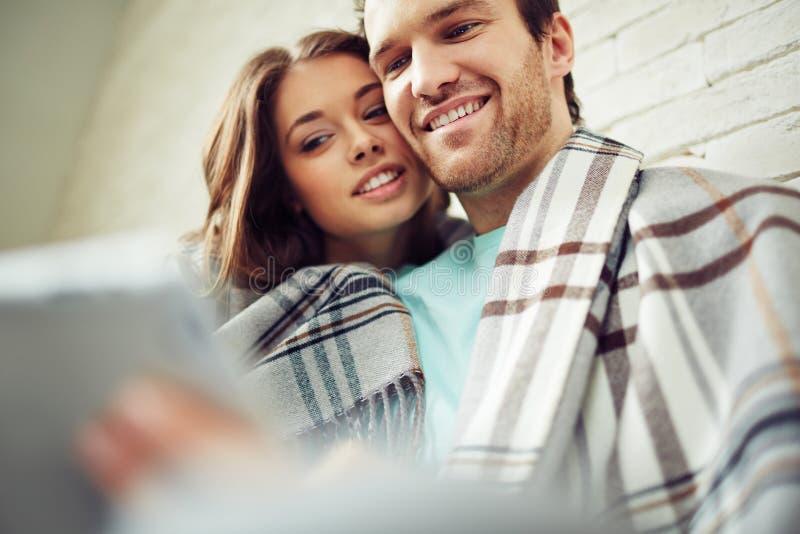 Modern couple royalty free stock image