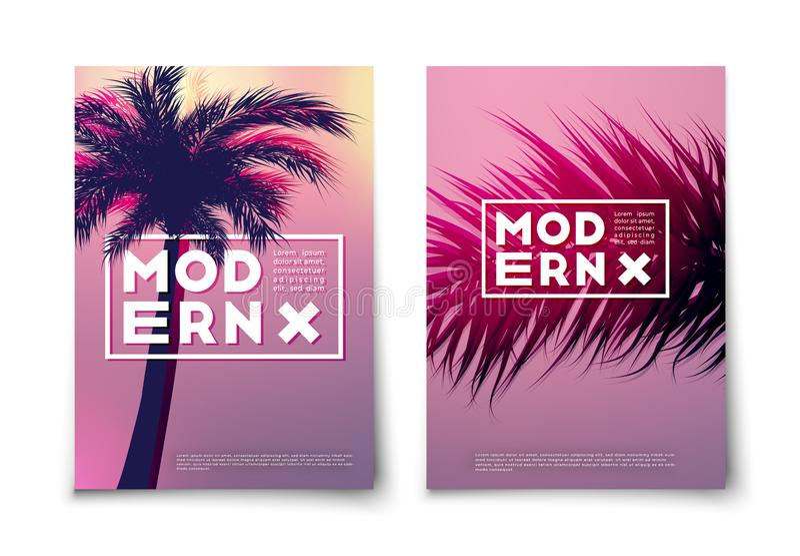 Minimalist floral background vector cover design vector illustration
