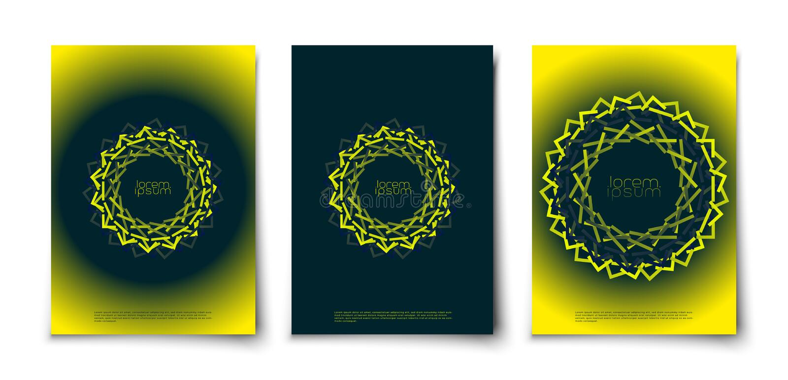 Abstract creative glow geometric shape ornament royalty free stock photography