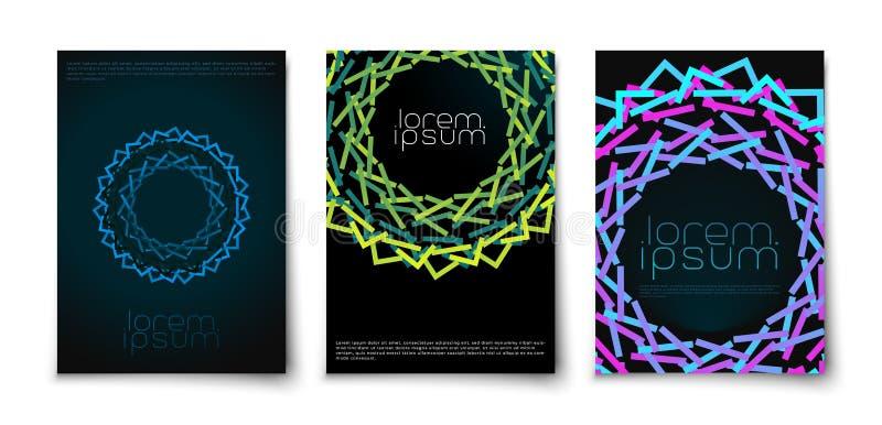 Abstract creative glow geometric shape ornament royalty free stock photos