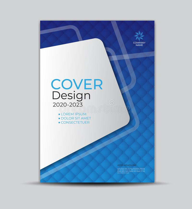 Modern Cover Design template, Business Brochure flyer Creative idea, book cover, annual report, with geometric graphic. Modern Cover Design template, Business vector illustration