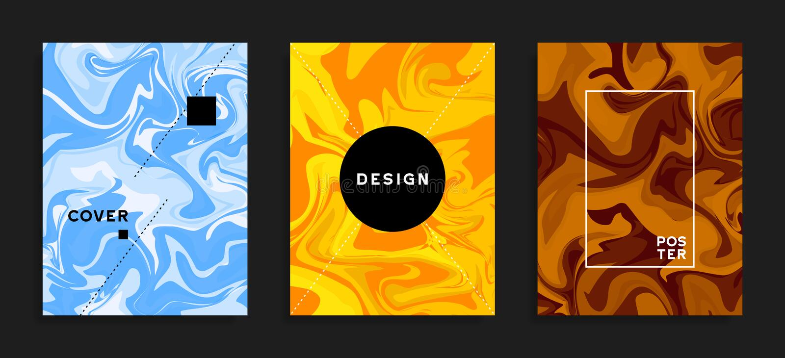 Modern cover templates. Fluid colors. Abstract barble vector background. vector illustration