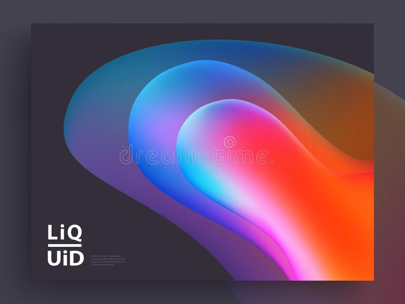 Modern Covers Template Design. Fluid colors. Trendy Holographic Gradient shapes for Presentation, Magazines, Flyers. EPS 10 vector illustration