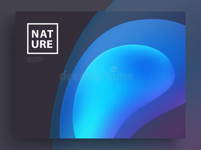 Modern Covers Template Design. Fluid colors. Set of Trendy Holographic Gradient shapes for Presentation, Magazines, Flyers. EPS 10. Modern Covers Template Design vector illustration