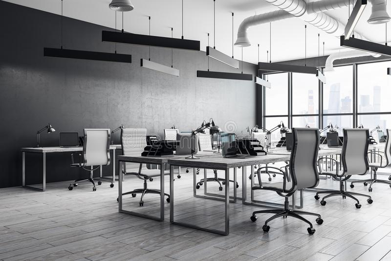 Modern coworking office interior royalty free illustration