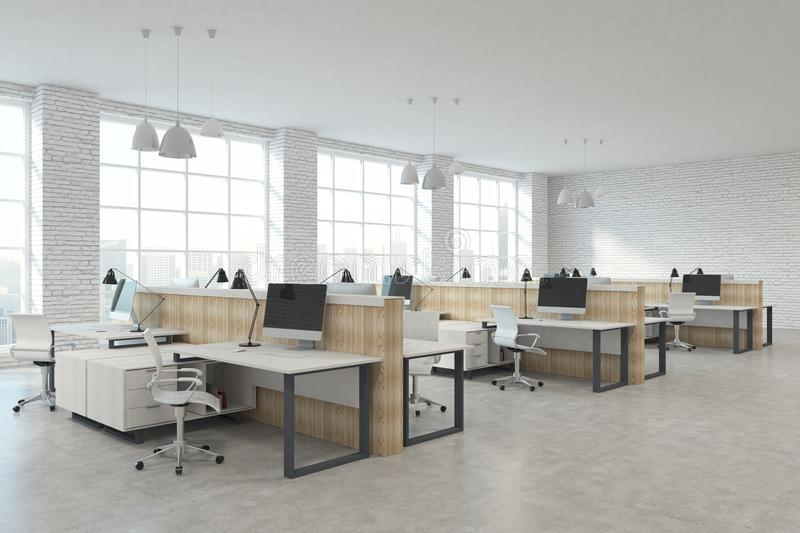 Modern coworking office stock photography