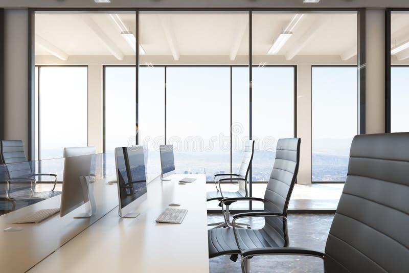 Modern coworking office stock illustration