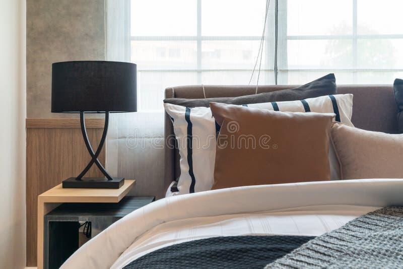 modern cozy bedroom royalty free stock photos